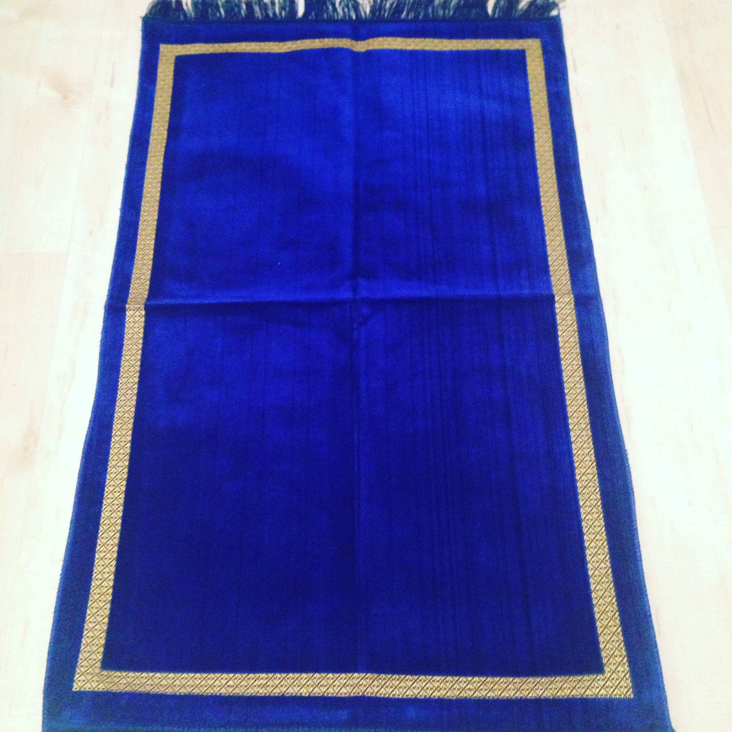 Royal Blue Velvet Style Turkish Prayer Mat