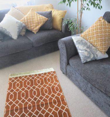 Mustard Geometric Luxury Prayer Mat made in Madinah